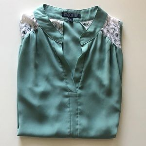 Love Culture Light Green Blouse. Size Medium.